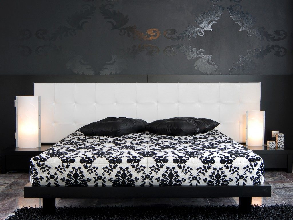 Bedroom with black interior