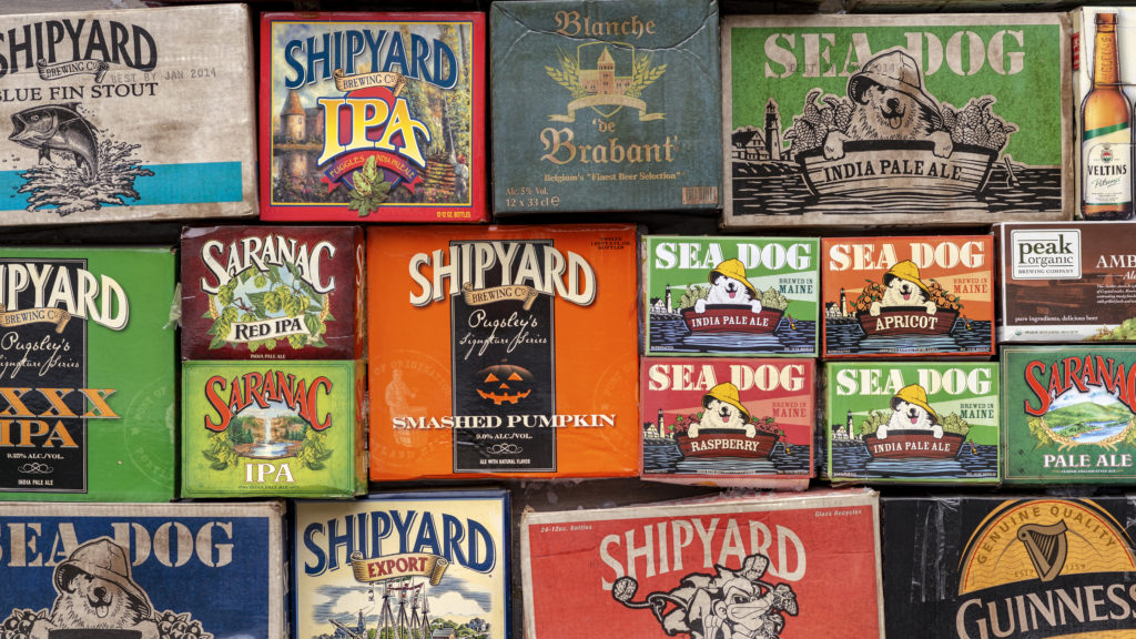 Vintage typography on box design