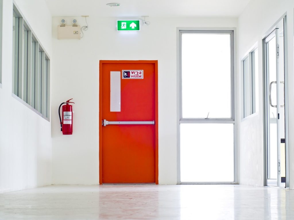 emergency exit in a building