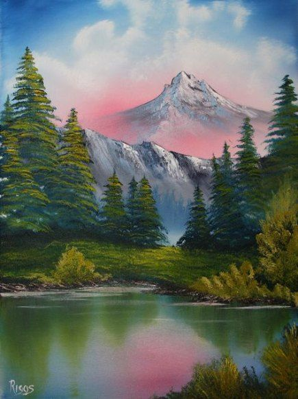 Bob ross painting authentic