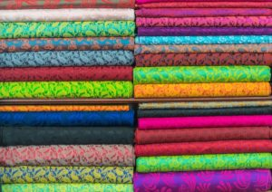 different colored textiles