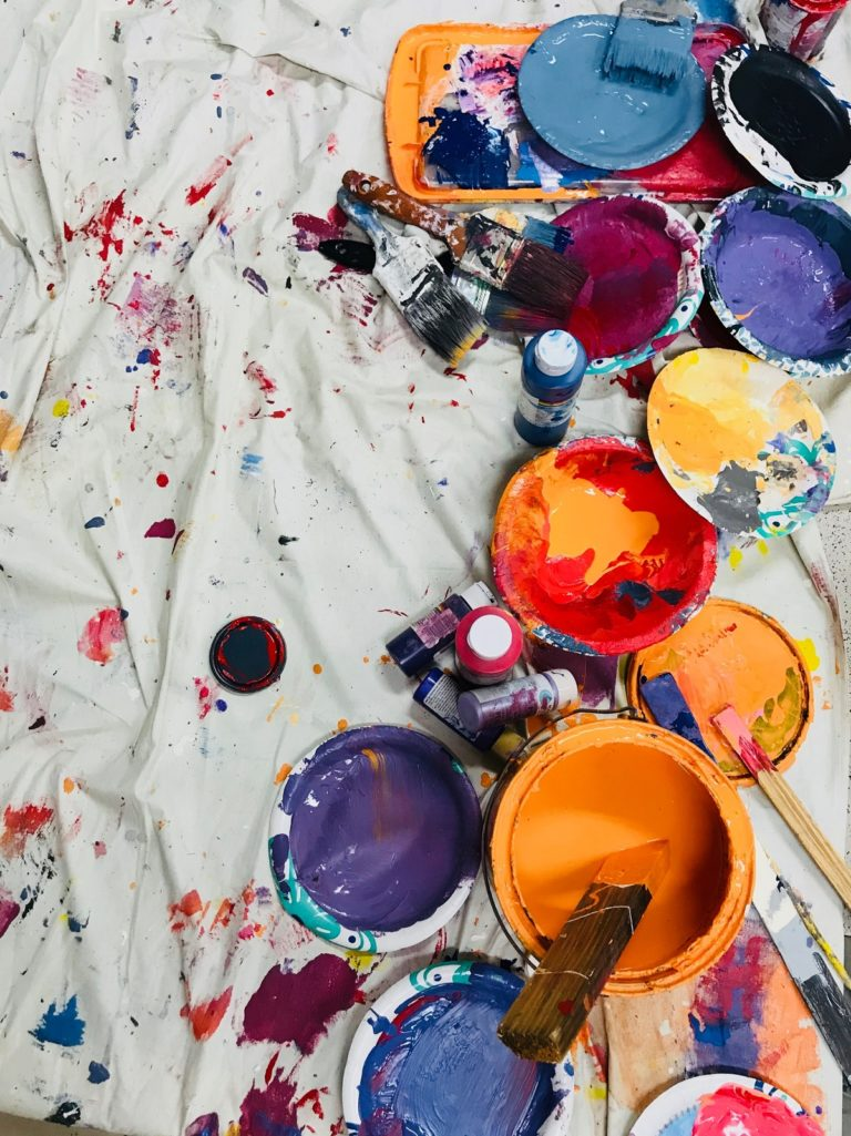 Different kinds of paint