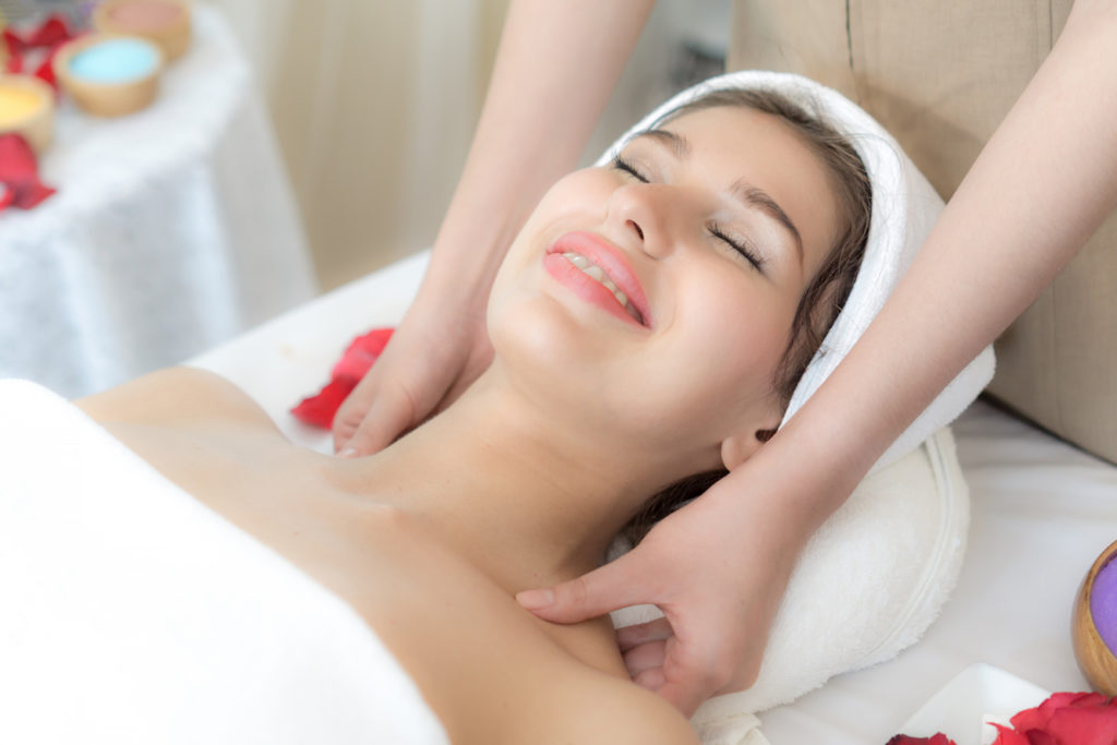 Female getting a massage
