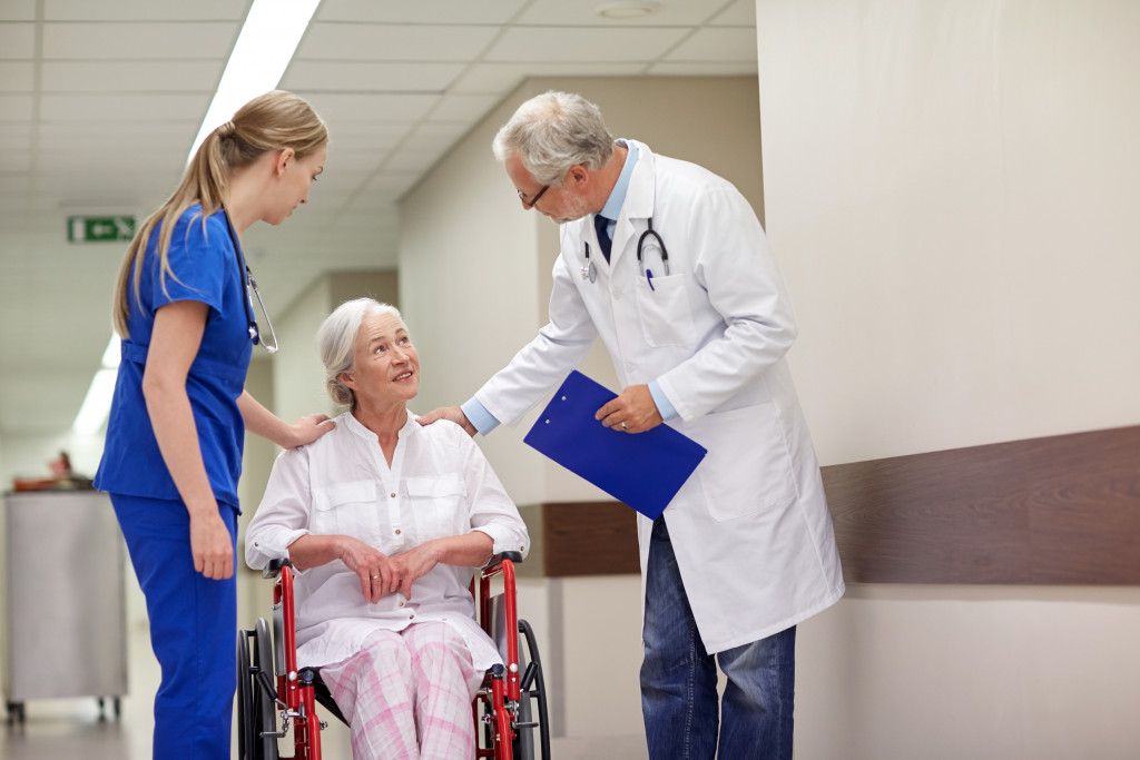 doctor and nurse with patient