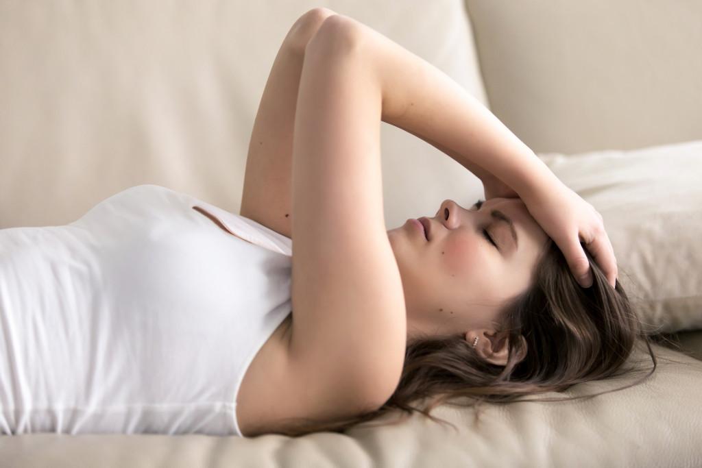 Female with migraine