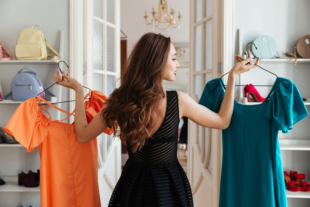 dresses at the store