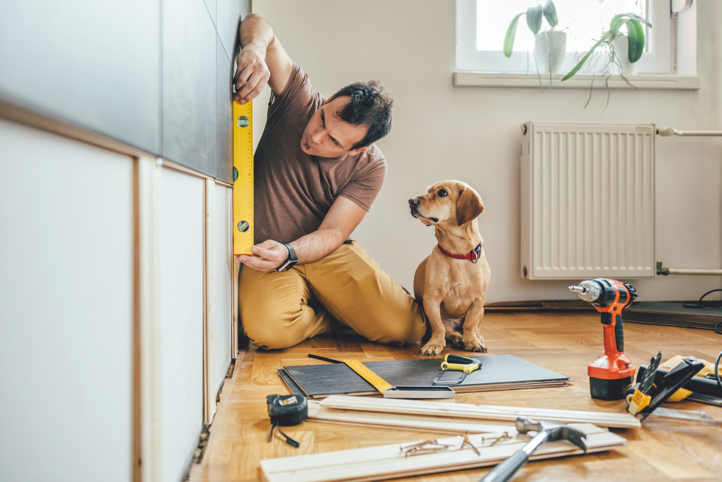man doing renovations