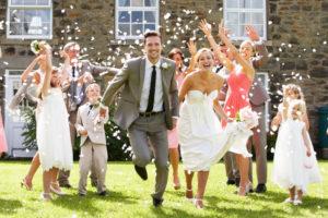 after wedding ceremony